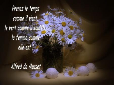 Bonsoir, Des fleurs, une belle citation,vraie, et romantic § Bonne