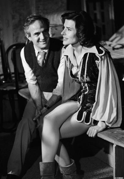17807.PHOTOS COUPLES DE VEDETTES.Fanny Ardant & François Truffaut.