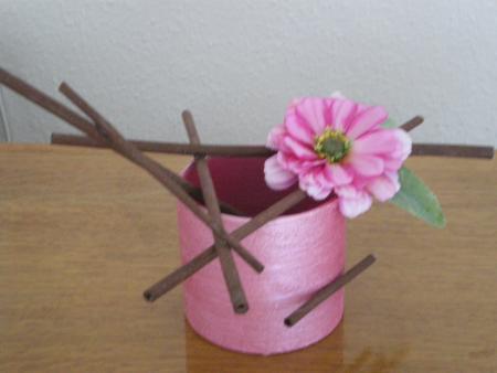 mini composition florale artificielle