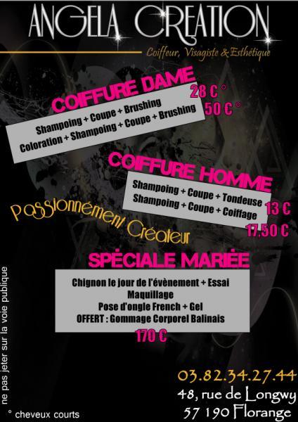 Célèbre Flyer Salon de Coiffure par fabien-infographie blog (Metz) MP82