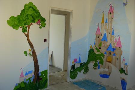 Peinture murale chambre images - Chambre bebe peinture murale ...