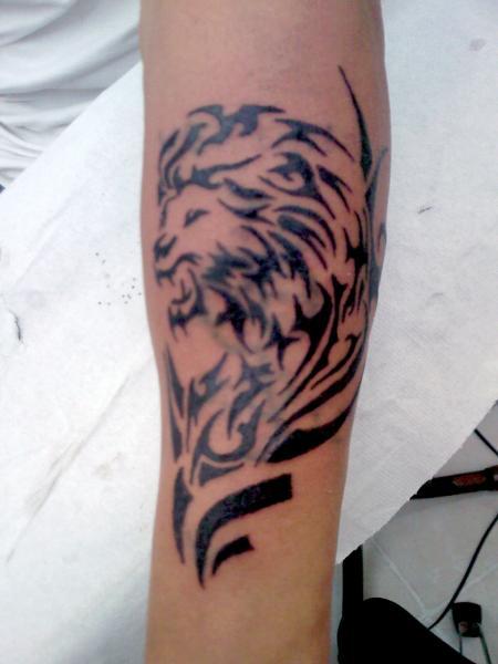 Tatouage recouvrement tete de lion tribale par tontattoo blog 80700 - Tete de lion tatouage ...