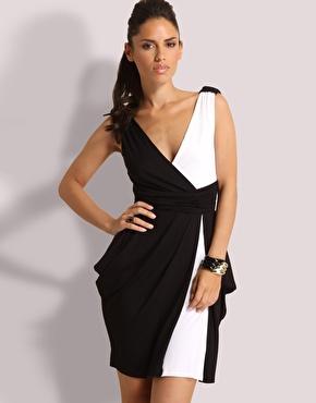 Robe soiree blanche noir